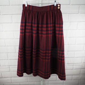 "Vintage Wool plaid tartan skirt 28"" Evan Piccone"